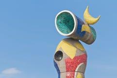 Joan Miro Mujer y Pajaro a Barcellona, Spagna Immagine Stock