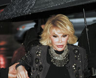 Joan Rivers. NEW YORK - APRIL 26: TV personality Joan Rivers arrives to Tribeca Talks: 'Joan Rivers A Piece Of Work' during the 2010 Tribeca Film Festival at the royalty free stock photography