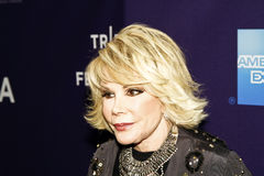 Joan Rivers. NEW YORK - APRIL 26: TV personality Joan Rivers attends Tribeca Talks: 'Joan Rivers A Piece Of Work' during the 2010 Tribeca Film Festival at the royalty free stock images
