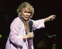 Joan Rivers executa levanta-se fotos de stock royalty free
