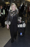 Joan Rivers at LAX airport, california Royalty Free Stock Images