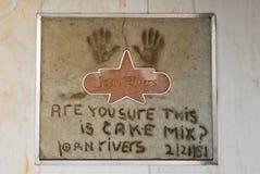 Joan Rivers op de Muur van de Toevlucht van Bekendheid stock foto