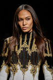 Joan Smalls walks the runway during the Balmain show Royalty Free Stock Photography
