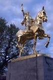 Joan van het standbeeld van de Boog in Laurelhust, Portland, Oregon. Stock Foto's