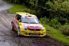 Joan Vinyes Suzuki snabb Rallye villa de Llanes arkivfoton
