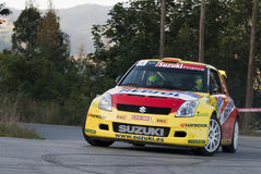 Joan Vinyes Suzuki Swift Rally Principe de Asturia Royalty Free Stock Photography