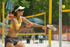 Joana Cortez on the Beach Tennis World Team Championship Stock Photos