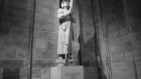 Joana da dama do arco-Notre dentro do Notre-Dame de Paris video estoque