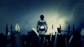 Joana do arco com seu exército ilustração do vetor