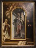 Joana do arco, pintando na igreja de San Michele in foro imagem de stock