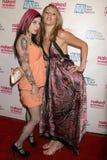 Joanna Angel en Samantha Ryan bij de Première van Los Angeles van ?Naakte Ambitie r-Geschat bekijken de x-Geschatte Industrie?. De Stock Foto's