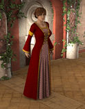 Joanna - Beautiful Medieval Lady of the Court Stock Image