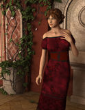 Joanna - Beautiful Medieval Lady of the Court - Image 3 Stock Photo