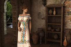 Joanna - Beautiful Medieval Lady of the Court - Image 4 Stock Photography