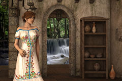 Joanna - Beautiful Medieval Lady of the Court - Image 5 Stock Image