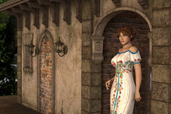 Joanna - Beautiful Medieval Lady of the Court - Image 9 Royalty Free Stock Photos