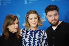 Joanna Hogg, honneur Swinton-Byrne et Tom Burke photo stock