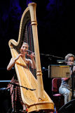 Joanna Newsom (harp player and singer) performs at Palau de la Musica Royalty Free Stock Photography