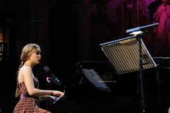 Joanna Newsom in Palau DE La Musica, Barcelona. Royalty-vrije Stock Afbeeldingen