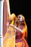 Joanna Newsom zespół wykonuje przy Poble Espanyol Zdjęcia Stock