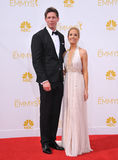 Joanne Froggatt & James Cannon. LOS ANGELES, CA - AUGUST 25, 2014: Joanne Froggatt & James Cannon at the 66th Primetime Emmy Awards at the Nokia Theatre L.A Stock Photography