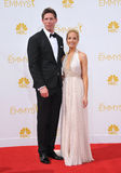 Joanne Froggatt & James Cannon. LOS ANGELES, CA - AUGUST 25, 2014: Joanne Froggatt & James Cannon at the 66th Primetime Emmy Awards at the Nokia Theatre L.A Royalty Free Stock Image
