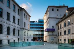 Joanneum Ogólnoludzki muzeum w Graz zdjęcie royalty free