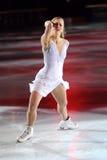 Joannie Rochette en la concesión de oro del patín 2011 imagen de archivo