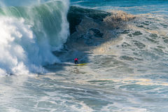 Joao de Macedo PRT. NAZARE, PORTUGAL - DECEMBER 20, 2016: Joao de Macedo PRT during the Nazare Challenge 2016 - Big Wave Tour #3 at Praia do Norte - Nazare Stock Images