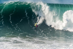 Joao de Macedo PRT. NAZARE, PORTUGAL - DECEMBER 20, 2016: Joao de Macedo PRT during the Nazare Challenge 2016 - Big Wave Tour #3 at Praia do Norte - Nazare Royalty Free Stock Photography