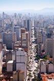 Joao del sao de la avenida en la ciudad de Sao Paulo imagen de archivo libre de regalías