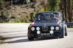 Joao Fernandes drives a BMW 2002 Royalty Free Stock Photo