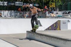 Joao Gomes durante la sfida del pattino di CC Fotografia Stock