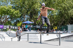 Joao Gomes pendant le défi de patin de C.C Photographie stock
