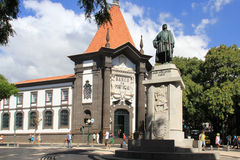 Joao Goncalves Zarco statue in Funchal, Madeira stock photo