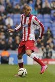 Joao Miranda di Atletico Madrid Fotografia Stock