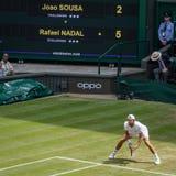Joao Sousa at Wimbledon royalty free stock photo