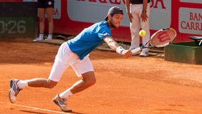 Joao Sousa Portuguese Tennis Player. Portuguese Tennis Player named Joao Sousa in Estoril Open Stock Images