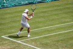 Joao Sousa at Wimbledon stock photography