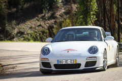 Joaquim Alves drives a Porsche 997 Royalty Free Stock Photography