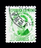 Joaquin Costa y Martinez, Beroemdheden serie, circa 1932 Royalty-vrije Stock Afbeelding