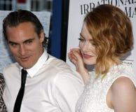 Joaquin Phoenix and Emma Stone royalty free stock photos