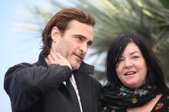 Joaquin Phoenix, Lynne Ramsay lizenzfreie stockbilder