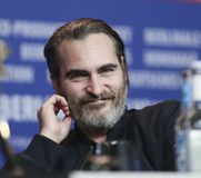 Joaquin Phoenix is seen at the `Don`t Worry, He Won`t Get Far on. Foot` press conference during the 68th Film Festival Berlin at Hyatt Hotel on February 20 Royalty Free Stock Images