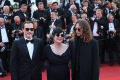 Joaquin Phoenix und Direktor Lynne Ramsay stockfotografie
