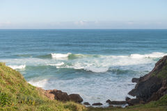 Joaquina海滩在弗洛里亚诺波利斯,圣卡塔琳娜州,巴西 图库摄影