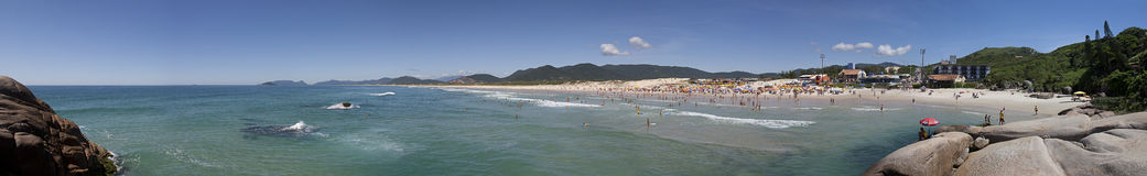 Joaquina beach panoramic view stock photography