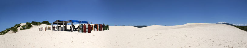 Joaquina dunes panoramic view, Florianopolis - Brazil Royalty Free Stock Photos