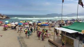 Joaquina strand i Florianopolis, Brasilien lager videofilmer