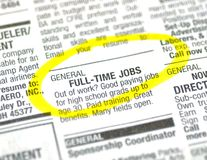 Job ad Stock Photography